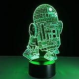 Neue 3D Lampe Fthing Flugzeug Nachtlicht Stimmung Lampe 7 Farbwechsel Licht Flugzeug Tischlampe Geburtstagsgeschenke Spielzeug Kinder Nachtlichter ## 2