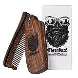 Bartkamm klappbar Holz von Eisenbart / Taschenkamm antistatische Bartpflege