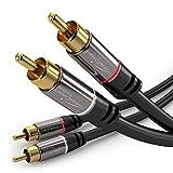 KabelDirekt 1m Stereo Cinch Audio 2 Cinch zu 2 Cinch Kabel - PRO Series
