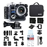 WiMiUS Action Cam 4K Actioncam WiFi Unterwasserkamera 20MP Action-Kamera Wasserdichte Camera (L1- Schwarz)