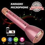 Tragbares Mikrofon Bluetooth Drahtloses, Karaoke Mikrofon Bluetooth Lautsprecher, Mikrofon Lautsprecher Kinder, Wireless Microphone Karaoke Mic für Smartphones IOS iPhone, iPod, iPad, Android Party