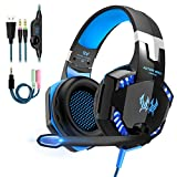 Gaming Headset Kopfhörer mit Mikrofon USB/3.5mm On Ear Surround Sound Ohrhörer und...