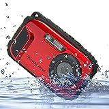 PowerLead 2.7 Zoll LCD-Kameras 10m Wasserdichte Kamera 16MP Digitalkamera Unterwasser + 8x Zoom