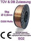 Schweißdraht 0,8 mm D200 5Kg Spule Schutzgasschweißdraht MIG /MAG Stahlschweißen
