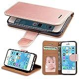 iPhone 5S Hülle, iPhone 5 Hülle, iPhone SE Hülle,SOWOKO Ledertasche Schutzhülle Flip Case...