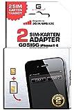 GDSI6G/ CARBONSCHWARZ/ 2 JAHRE Herstellergarantie!/ Mehrsprachig/ Dual SIM DualSIM Adapter iPhone 6 UMTS/3G/HSDPA/GPS/LTE