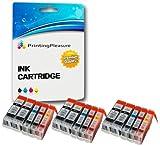 15 Druckerpatronen für Canon BJC-3000, BJC-6000, BJC-6100, BJC-6200, BJC-6500, BJI-6500, I550, I550X, I560, I560X, I6500, I850, iP3000, iP4000, iP4000R, iP5000, MP700, MP730, MP750, MP780, MPC100 MPC400, MPC600, MPC600F, MP-F50, MP-F60, MP-F80, C100, C150, C600, C600f, S400, S400X, S450, S4500, S500, S520, S530d, S600, S630, S6300, S750 | kompatibel zu BCI-3eBK, BCI-6C, BCI-6M, BCI-6Y