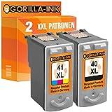 Gorilla-Ink® Farbset 2x Druckerpatrone XXL remanufactured für Canon PG-40 XL & CL-41 XL XL Pixma IP 1300 1600 1700 1800 1900 2200 2500 2600