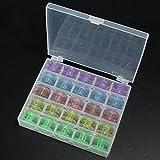 uSport Colorful 25Leer Spulen Nähmaschine Spule mit Aufbewahrungsbox Kunststoff Fällen Aufbewahrung