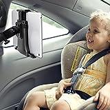 iihome Tablet Halterung Auto, KFZ Kopfstützen iPad Kopfstützen Halterung 360° Grad Einstellbare rotierende Autositz-Kopfstützenhalterung für iPad, 7' bis 10' Tablets - Schwarz(2nd Gen)