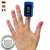 OLED Finger Pulsoximeter, Pulsmessgerät, Fingerpulsoximeter, Oximeter, Pulsmesser, Medizinprodukt nach MDD