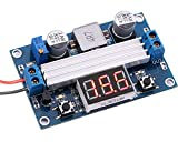 Yeeco 3.0-35V DC-DC Boost-Wandler Einstellbar 3.5-35V Step up-Netzteil Convert Board mit roten Digital LED-Voltmeter Anzeige Voltage Regulator geregelten Auto Verordnung 3.7V bis 5V 7.4V To12V 19V 24V