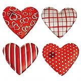 4er Set Taschenwärmer in Herzform, Herz, Fingerwärmer, gegen kalte Hände im Winter