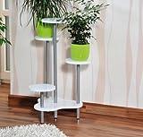 MQ Blumentreppe Etagere Pflanzentreppe Pflanzenbank Blumenständer MDF Holz weiß lackiert