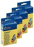 iColor Color Packs Kompatible Tintenpatronen für Canon Tintenstrahldrucker: Color-Pack für CANON (ersetzt BCI-6BK/C/M/Y) (Druckerpatronen)