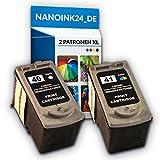 2x Kompatible Tintenpatronen CANON PG 40 XL + CL 41 XL IP2500 IP2600 MX300 MX310 bei Nano