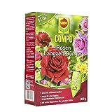COMPO Rosen Langzeit-Dünger für alle Arten von Rosen, Blütensträucher sowie Schling- und Kletterpflanzen, 6 Monate Langzeitwirkung, 850 g, 11m²