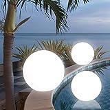 MIA Light Kugelleuchte Ø40cm/ Aussen / Deko ( Kugellampe - Leuchtkugel - Lichtkugel - Gartenkugel ) Leuchtobjekt - Lichtobjekt - Aussenlampe - Aussenleuchte - Gartenlampe - Gartenleuchte - Garten - Leuchte - Lampe