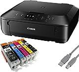 Canon Pixma MG5550 Multifunktionsgerät Tintenstrahl (Kopierer, Scanner, Drucker, USB, WLAN) + USB Kabel & 20 YouPrint Druckerpatronen - Originalpatronen ausdrücklich nicht im Lieferumfang