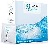 NARSA® Nasenspülsalz 60stk für die Nasendusche zur Reinigung der Nase bei Erkältung / Allergie / Trockener Nase / Nasenreinigung / Nasenreiniger / Nasensalz / Salz / Nasenspülung bei Schnupfen