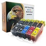10er-Set D&C Druckerpatronen ersetzt PGI-525 CLI-526 für Canon Pixma iP4800 iP4850 iP4900 iP4950 iX6550 MG5100 MG5140 MG5150 MG5200 MG5250 MG5350 MG6150 MG6250 MG8150 MG8250 MX715 MX880 MX885 MX895