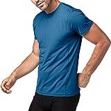 Lapasa Herren Sport T-Shirt, 1 bis 2er Pack Sport Performance T-Shirt mit Mesh Einsätze, Quick-Dry Sport Funtionkstshirt, M015