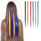 SwirlColor Highlight Haarverlängerungen Multi Farben Party Highlight Clip im Friseursalon Versorgung Perücken für Frauen