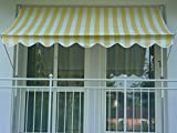 Angerer Klemmmarkise PE-Gewebe Blockstreifen, Gelb, 300 cm