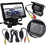 Auto Wayfeng® Wireless Rear View Camera + 7-Zoll-TFT-LCD-Monitor + Nachtsicht-18-Zoll-LED-Wireless-Kamera-System aufhebt