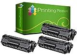 PRINTING PLEASURE 3 Toner kompatibel für HP Laserjet 1100 / 3200 / CANON LBP-1110 / LBP-1120 / LBP-250 / LBP-350 / LBP-200 / LBP-800 / LBP-810 / LBP-5585 / LBP-P420 Serie / C4092A / 92A / EP22 / 1550A003 Schwarz / Black