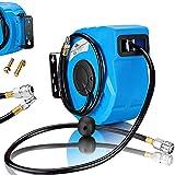 Druckluftschlauch Aufroller automatisch【10m】3/8' Anschluss - Schlauchtrommel Wandschlauchhalter Schlauchaufroller Druckluftschlauch-Aufroller