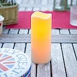 LED Kerze für Außen mit Timer 18cm Lights4fun