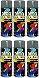 6er Sparpack DC Lackspray glänzend 400ml nach RAL freie Farbauswahl (6 Dosen in mausgrau glanz RAL 7005)