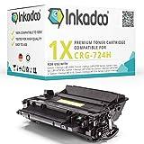 Inkadoo Toner kompatibel zu Canon i-SENSYS LBP-6750 dn, 724H 3482B002 3482B002AA, 1x Premium Drucker-Kartusche Alternativ, Schwarz, 12500 Seiten