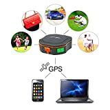 TKSTAR Road Deal Vehicle Car Mini Tracker Tracking System Waterproof GPS Tracker GSM AGPS for Children Parents Pets Cars SOS communicator(schwarz)