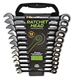 GearWrench 9412BE Ringmaulschlüssel mit Ratsche Set Metrisch, Schwarz, 8-19 mm, 12 Stück [Limitierte Auflage]