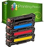PRINTING PLEASURE 4 Toner kompatibel für HP LaserJet Pro 200 Color M251 n / M251 nw / MFP M276 n / MFP M276 nw / Canon LBP-7100 CN / LBP-7110 CW / MF-8230 CN / MF-8280 CW / CF210X / CF211A / CF213A / CF212A / 131X / 131A / Canon 731 / CRG731