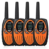 4X FLOUREON PMR Funkgerät Walkie Talkies 8 Kanäle Walki Talki 2-Wege Radio mit LC-Display Orange