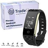 Ultra Slim Fitness Tracker mit Anrufanzeige Nachrichtenanzeige Herzfrequenzmessung Schlafmonitor...