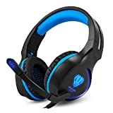 BUTFULAKE Gaming Headset, Audio Stereo Bass mit LED, Kopfhörer mit Controller Praxis, kompatibel für PS4, Xbox One, PC, Laptop, Tablet, Smartphone