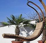 DESIGN Hängeliege NAVASSA-SEAT aus Holz Lärche / Metall mit Auflage (OHNE Gestell) von AS-S, Farbe:Braun