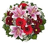 Dominik Blumen und Pflanzen, Blumenstrauß  'Charlotte' mit rosa Lilien