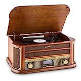 auna Belle Epoque 1908 • Retroanlage • Plattenspieler • Stereoanlage • Digitalradio • DAB+...