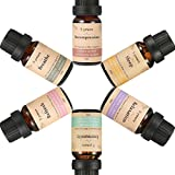 Skymore Ätherische Öle Set, 100% Pure Aroma Öle, Aromatherapie Duftöl Set für Diffuser/Duftlampen/Lufterfrischer Geeignet (Refresh, Sleep, Immunity, Relaxation, Decompression, Breathe) 6X10ml