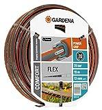 GARDENA Comfort FLEX Schlauch 13 mm (1/2'), 15 m: Formstabiler, flexibler Gartenschlauch mit Power-Grip-Profil, aus hochwertigem Spiralgewebe, 25 bar Berstdruck, ohne Systemteile (18031-20)