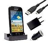 mobilefox® Samsung Galaxy ace 2 GT-I8160 Dockingstation Ladekabel Netzteil Micro USB Tisch...