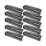 10 Toner für Canon 731 I-Sensys LBP 7100 CN 7110 CW Series MF 8200 Series 8230 CN 8280 CW ImageClass LBP 7110 CW Lasershot LBP 7100 Series - 6269B002-6272B002 - Schwarz je 1600 Seiten, Color je 1400 Seiten