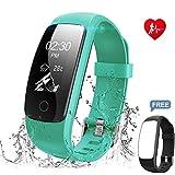 Chianruey Fitness Armband mit Herzfrequenz-Fitness Tracker Pulsuhr Aktivitätstracker mit...