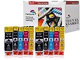 10 Druckerpatronen mit Chip Kompatibel zu Canon CLI8 & PGI5 Canon Pixma IP-3300 , IP-3500 , IP4200 , IP4300 , IP5200 , IP4500 , IP5200R , IP5300 , MP500 , MP510 , MP530 , 600 , MP600R , MP810 , MP830