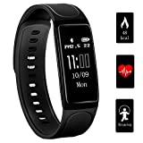 Fitness Tracker, Teetox 0.96Inch OLED Fitness Armbänder mit Pulsmesser Smart Wristband Aktivität...